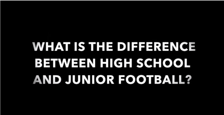 We are asked by parents and players what to expect when playing football at the next level after high school?